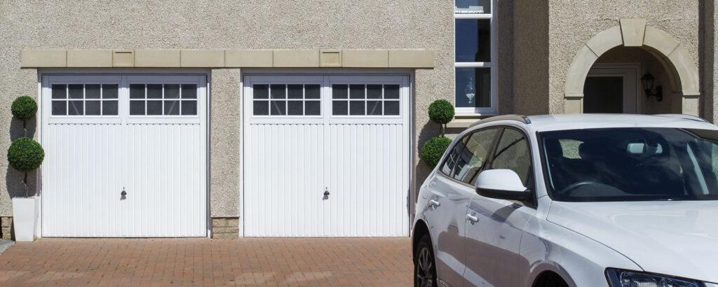 Dual garage doors in Suffolk